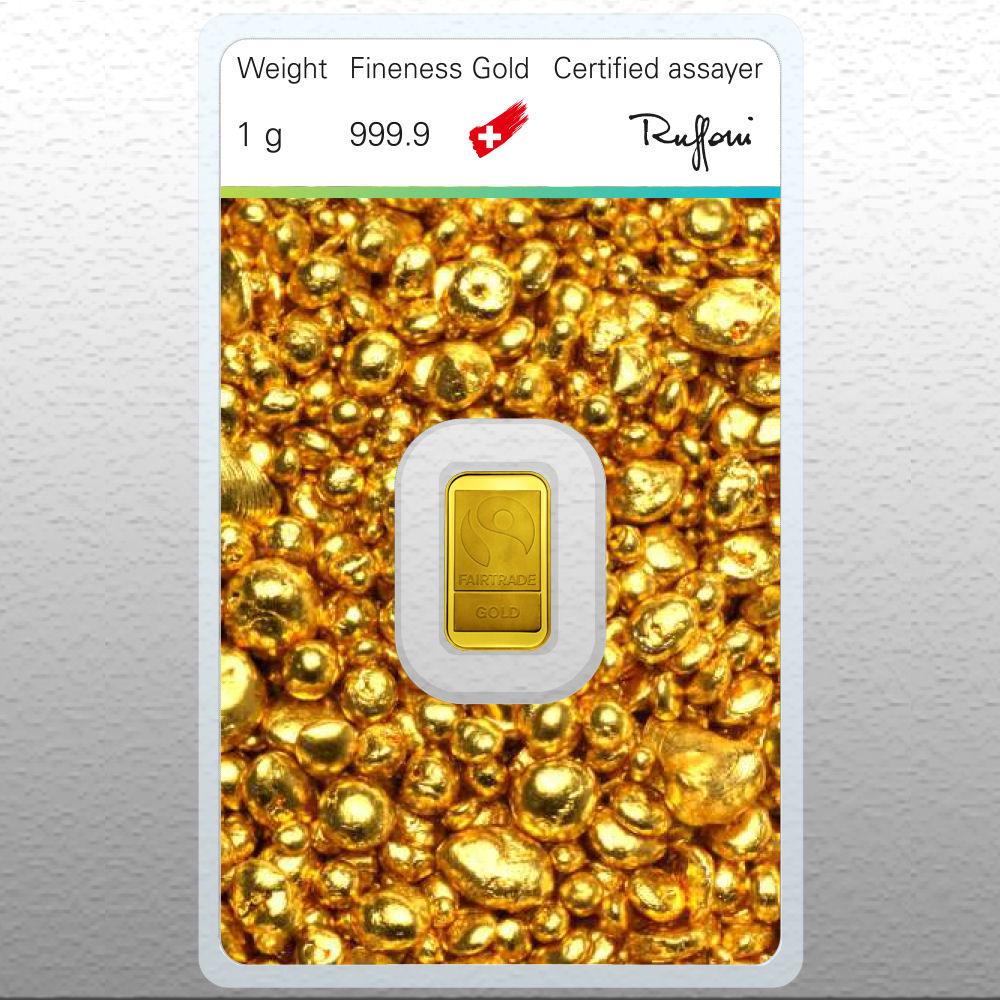 1 gramm fair trade goldbarren silber gold verkauf. Black Bedroom Furniture Sets. Home Design Ideas