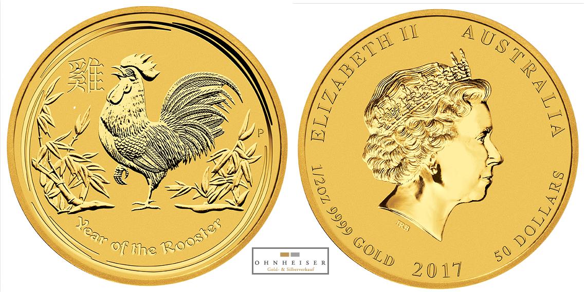 1 2 oz hahn 2017 lunar ii australien gold silber gold verkauf. Black Bedroom Furniture Sets. Home Design Ideas