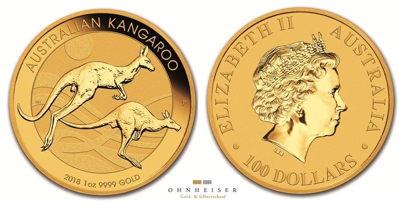 1 1 oz australian kangaroo 2018 gold silber gold verkauf. Black Bedroom Furniture Sets. Home Design Ideas