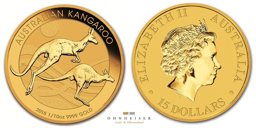 1 10 oz australian 2018 kangaroo goldm nze silber gold verkauf. Black Bedroom Furniture Sets. Home Design Ideas