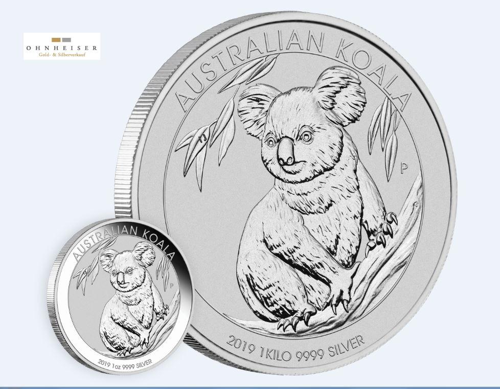1 1 Oz Koala 2019 Noch Nicht Bestellbar Silber Gold Verkauf