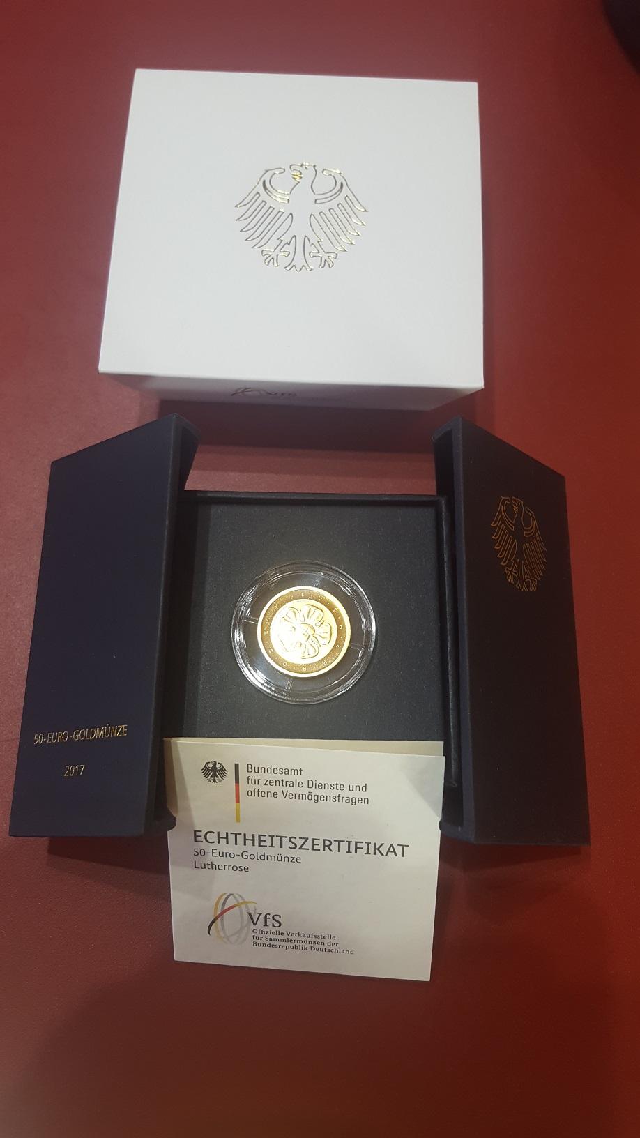 14 Oz Lutherrose Brd 50 Euro 2017 Gold Martin Luther Münze Silber