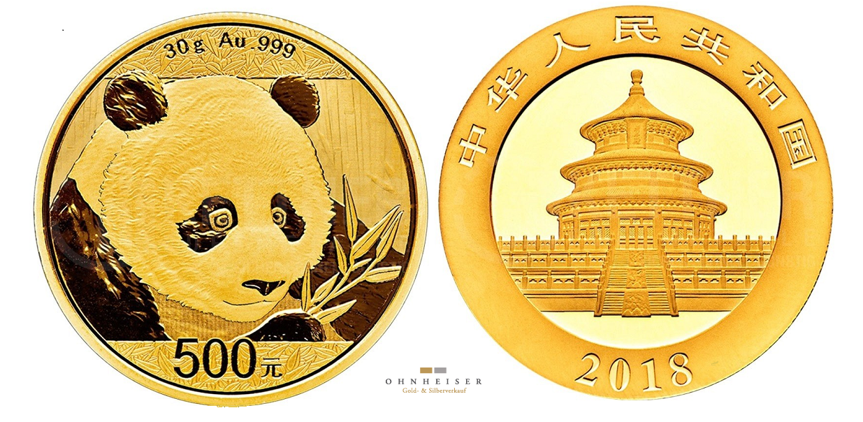 china panda 2018 30 gramm gold silber gold verkauf. Black Bedroom Furniture Sets. Home Design Ideas
